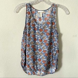 H&M Floral High/Low Tank